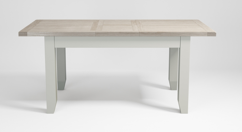 Costwold Oak and Grey Painted 120cm Extending Dining Table
