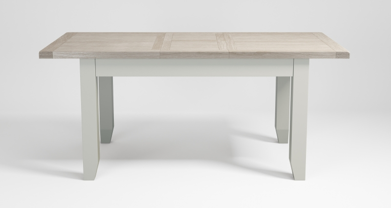 Costwold Oak and Grey Painted 140cm Extending Dining Table