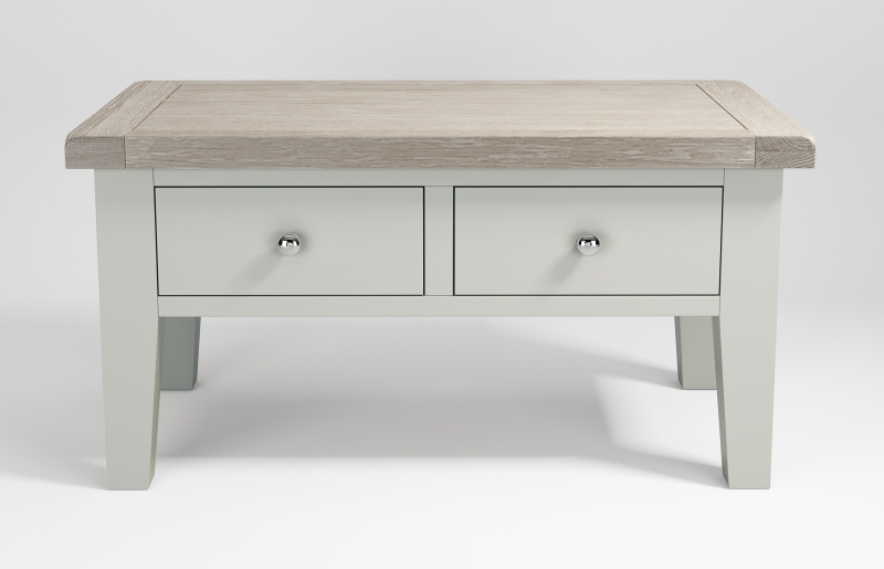 Costwold Oak and Grey Painted 2 Drawer Coffee Table
