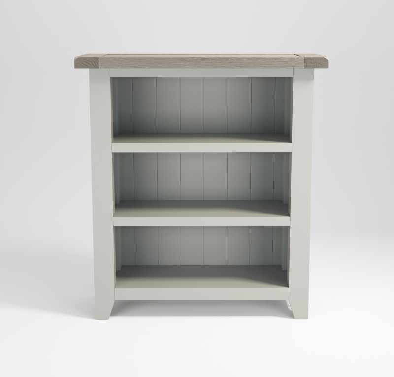 Costwold Oak and Grey Painted Bookcase