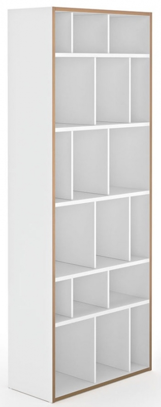 Temahome Group 72 Pure White Plywood Edge Bookcase