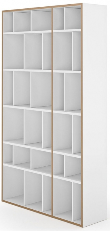 Temahome Group 108 Pure White Plywood Edge Bookcase