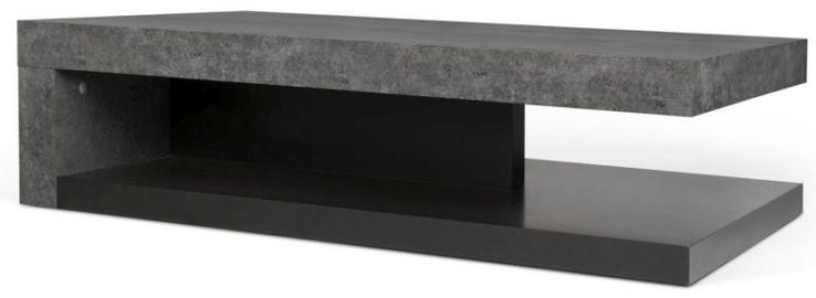 Temahome Detroit Concrete Melamine and Black Coffee Table