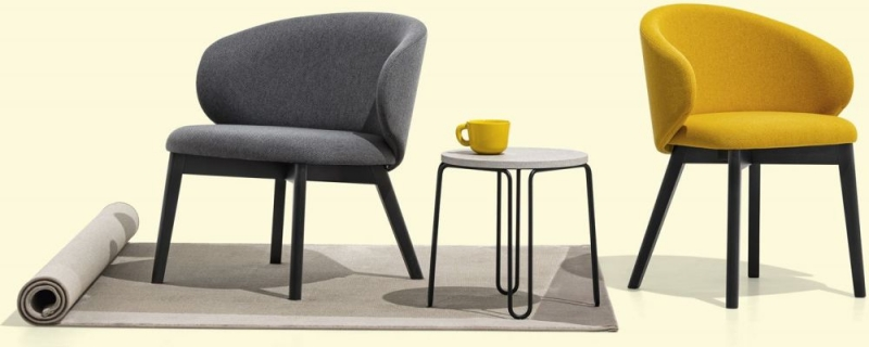 Connubia Tuka Fabric and Wooden Dining Chair (Pair) CB2117