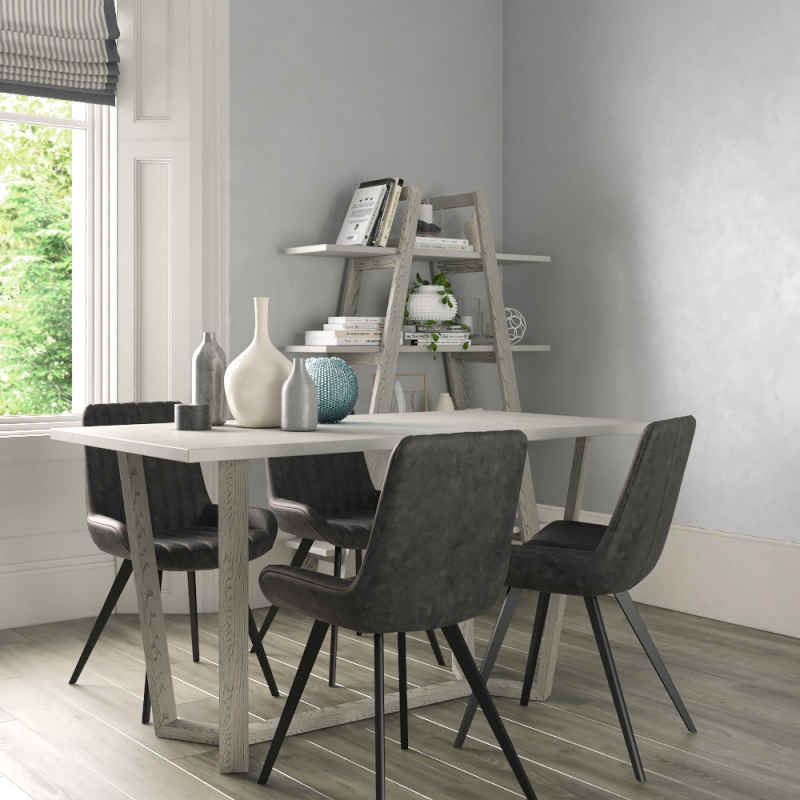 Global Home Docklands Grey Washed 150cm Dining Table