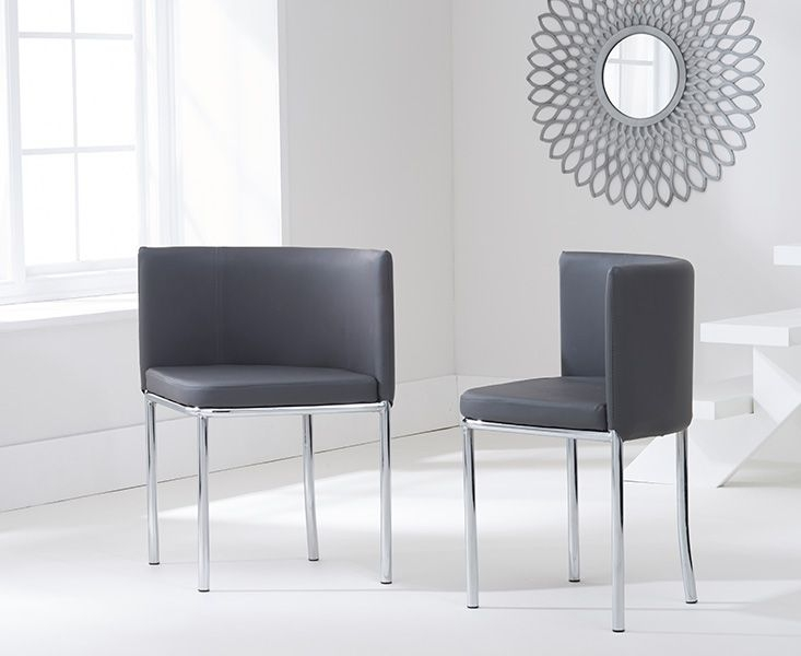 Mark Harris Abingdon Stowaway Dining Table and 4 Grey Dining Chairs