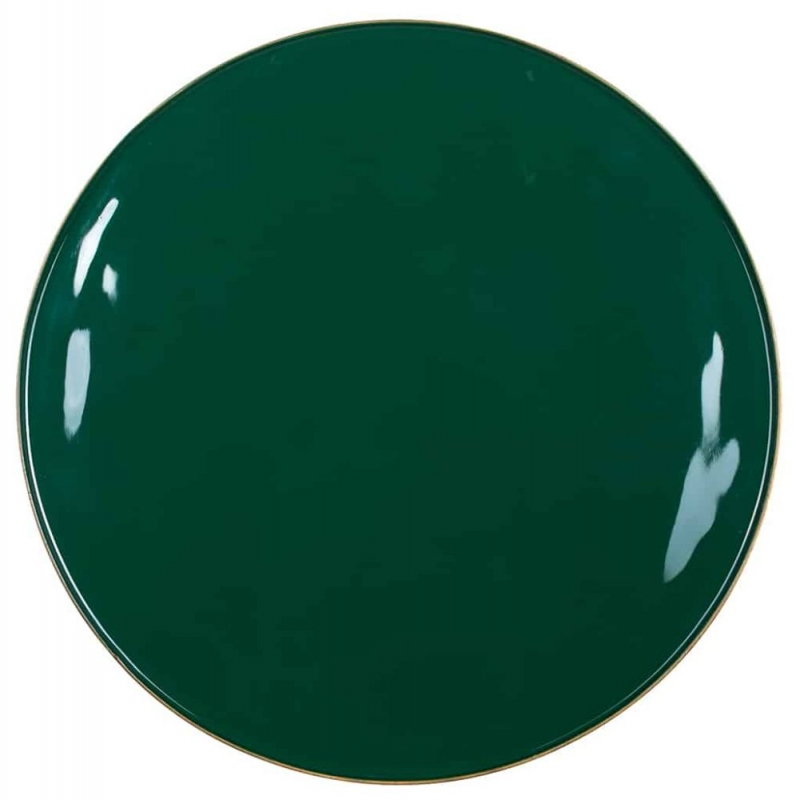 Candy Green Glass Round Side Table