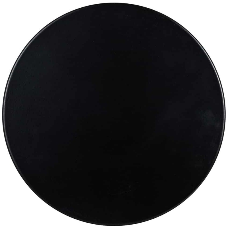 Iconic Black Round Side Table