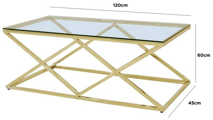 Fowey Glass and Gold Coffee Table