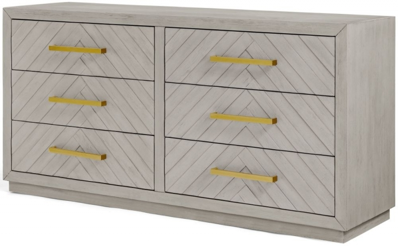 Clearance - Gillingham 6 Drawer Wide Chest - New - E-620