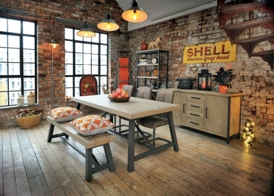 Clearance - Rowico Lowry Industrial Dining Bench - New - E-657