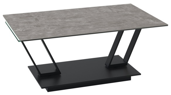 Barcelona Roulette Natural Ceramic and Glass Wing Coffee Table