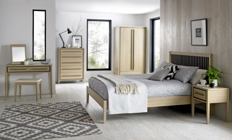 Bentley Designs Rimini Aged and Weathered Oak Bedstead - Slatted