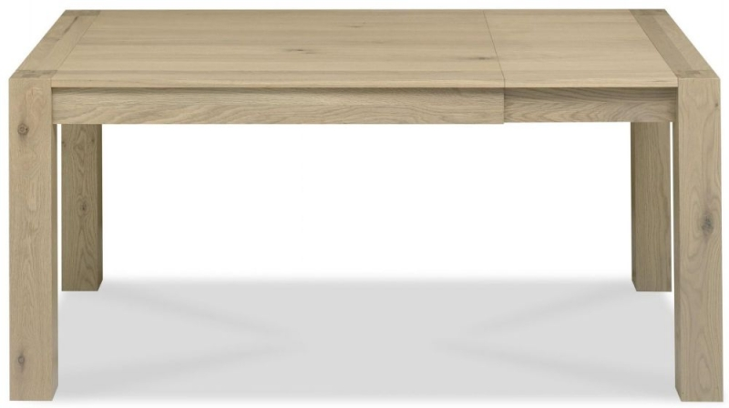 Bentley Designs Turin Aged Oak Dining Table - Small End Extending