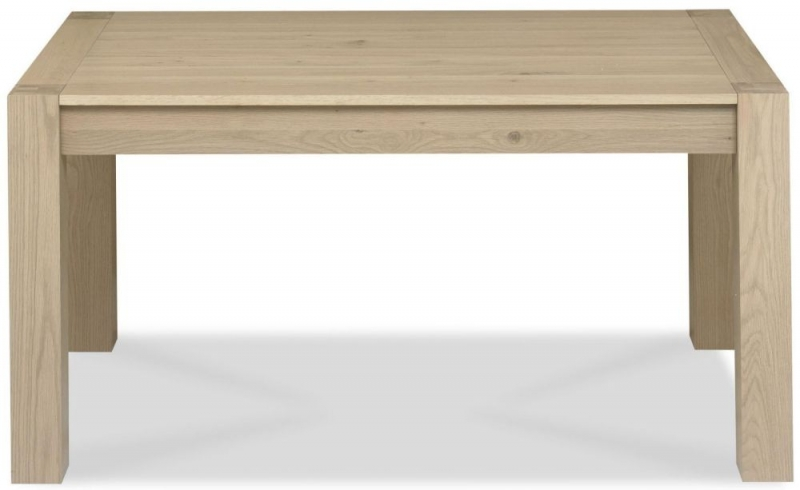 Bentley Designs Turin Aged Oak Dining Table - Medium End Extending
