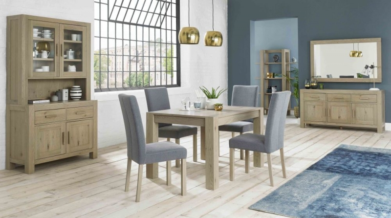Bentley Designs Turin Aged Oak Dining Table - 6 Seater