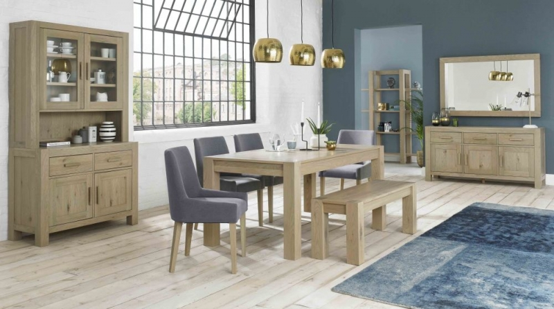 Bentley Designs Turin Aged Oak Dining Bench - Small