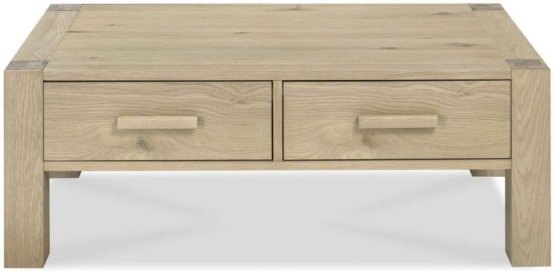 Bentley Designs Turin Aged Oak Coffee Table with Drawer