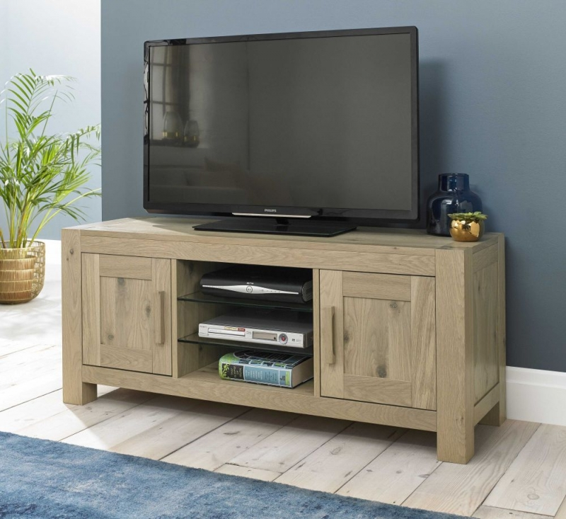 Bentley Designs Turin Aged Oak Entertainment Unit