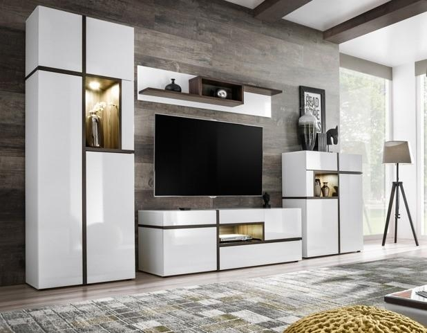 Austin White Wall Panel with Shelves