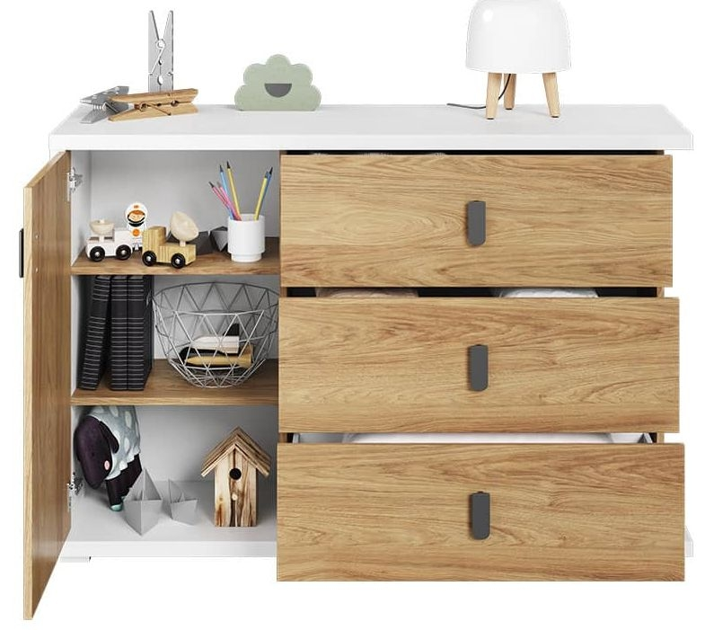 Emily Natural and White Sideboard