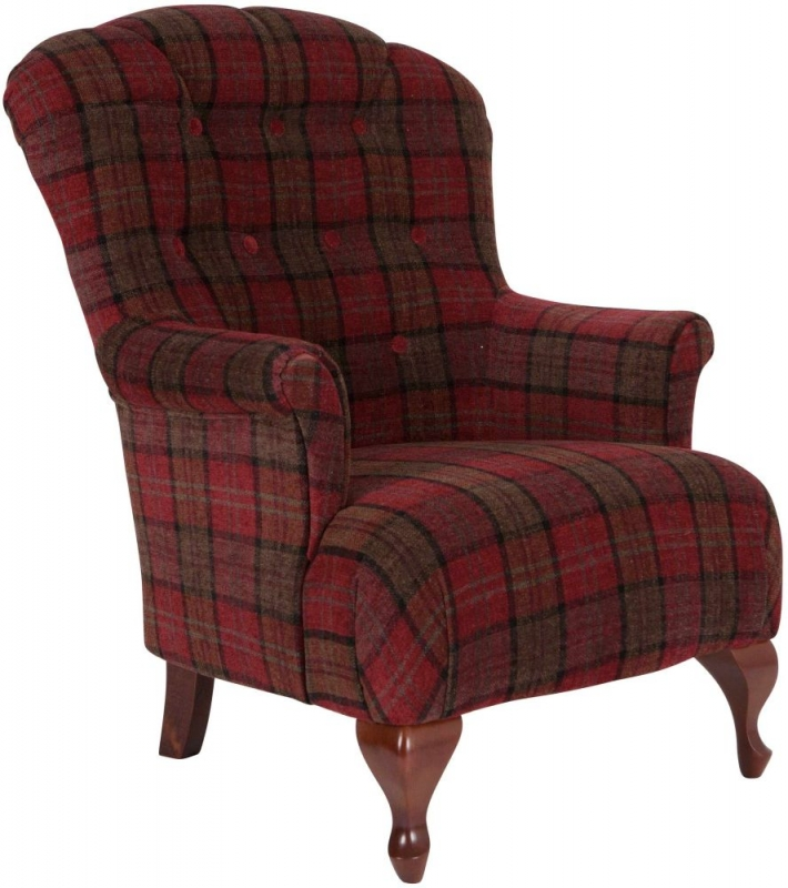 Oban Occasional Tub Chair with Mid Brown Leg