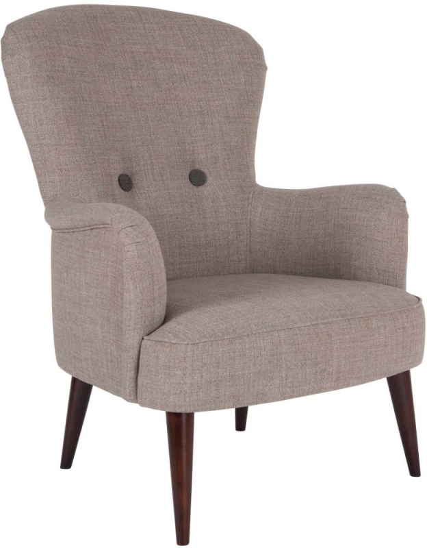 Oslo Occasional Tub Chair with Mid Brown Leg