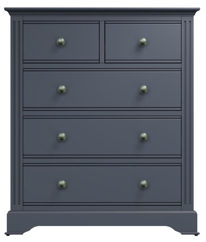 Ashby Midnight Grey Painted 2+3 Drawer Chest