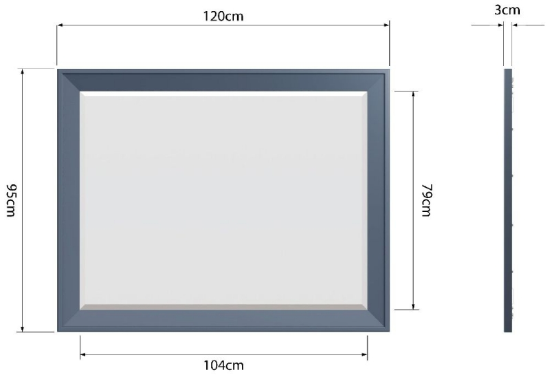 Ringwood Blue Painted Wall Mirror