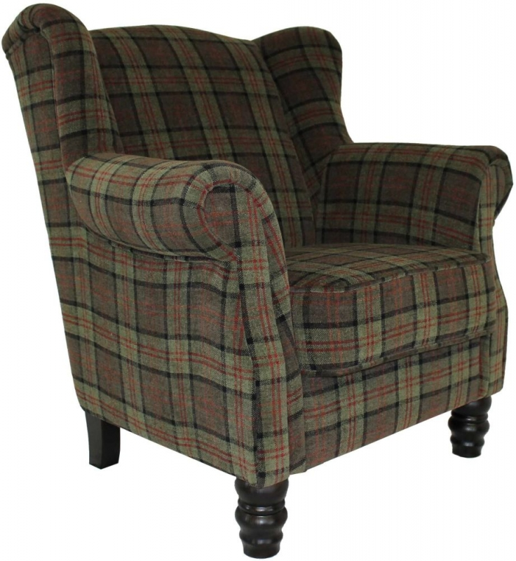 William Occasional Tub Chair with Wenge Leg