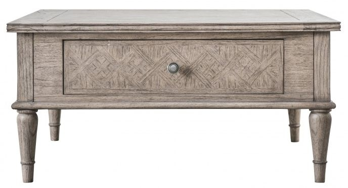 Hudson Living Mustique 2 Drawer Coffee Table