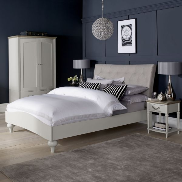 Bentley Designs Montreux Soft Grey Diamond Stitch Upholstered Bed