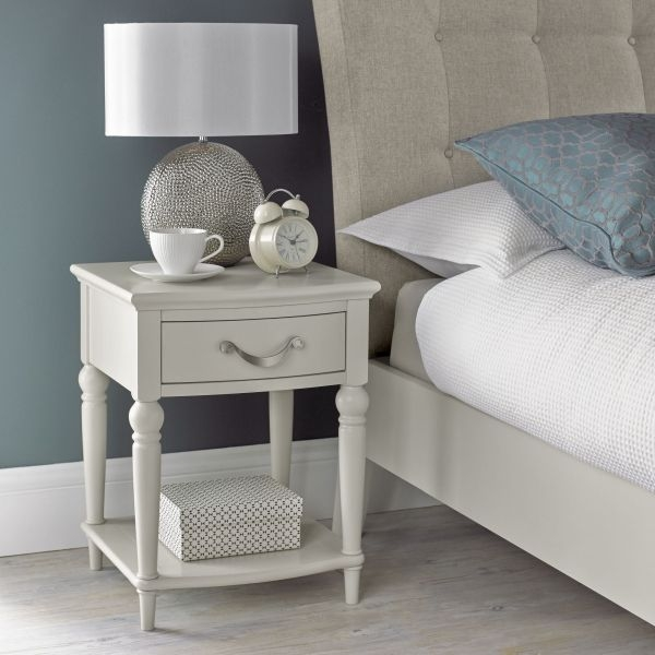 Bentley Designs Montreux Soft Grey Bedside Cabinet - 1 Drawer