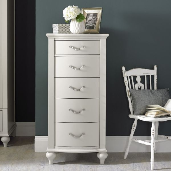 Bentley Designs Montreux Soft Grey Chest of Drawer - 5 Drawer Tall