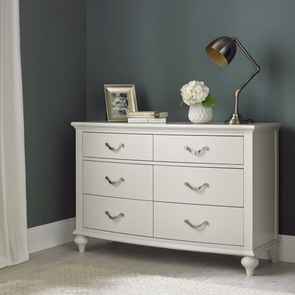 Bentley Designs Montreux Soft Grey Chest of Drawer - 6 Drawer Wide