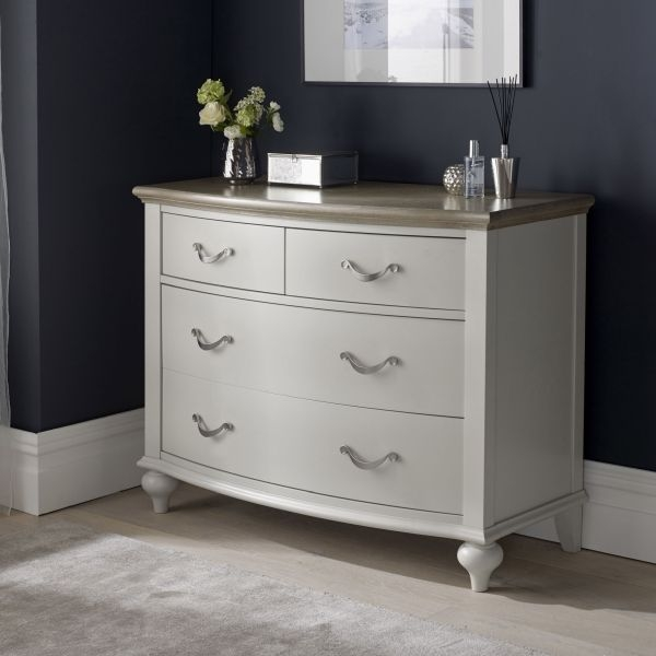 Bentley Designs Montreux Grey Washed Oak and Soft Grey Chest of Drawer - 2+2 Drawer
