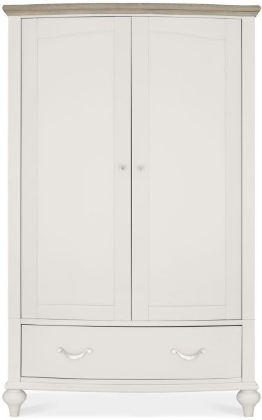 Bentley Designs Montreux Grey Washed Oak and Soft Grey Wardrobe - Double