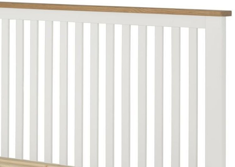 Portland White Painted Slatted Bed