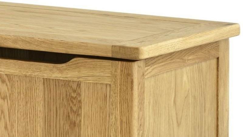 Portland Oak Blanket Box