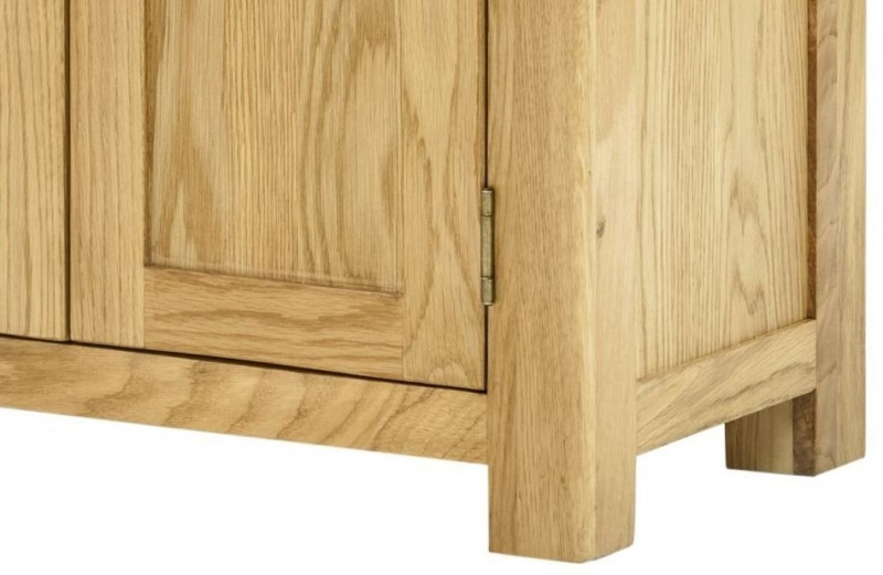Portland Oak 2 Door Hall Cabinet