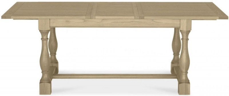 Bentley Designs Chartreuse Aged Oak Dining Table - 4-10 Extending