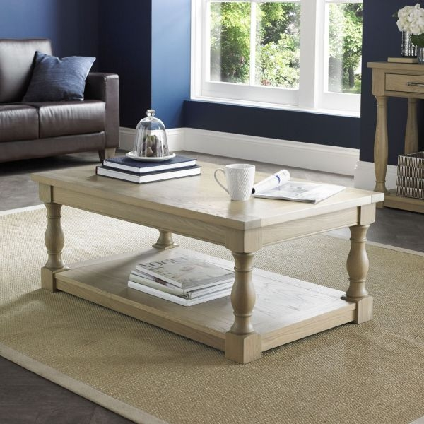Bentley Designs Chartreuse Aged Oak Coffee Table