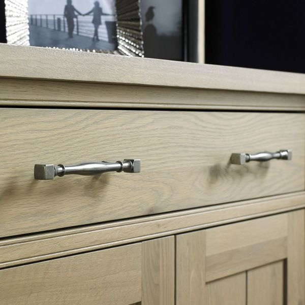 Bentley Designs Chartreuse Aged Oak Sideboard - 3 Door