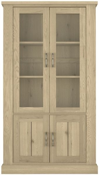 Bentley Designs Chartreuse Aged Oak Display Cabinet