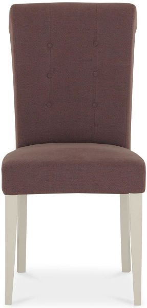 Bentley Designs Chartreuse Aged Oak and Antique White Upholstered Chair - Mulberry (Pair)