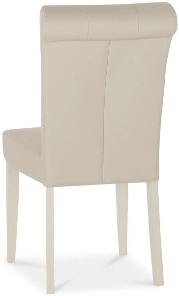 Bentley Designs Chartreuse Aged Oak and Antique White Upholstered Chair - Ivory Bonded Leather (Pair)
