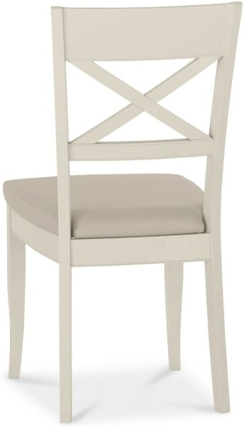 Bentley Designs Chartreuse Aged Oak and Antique White X Back Chair (Pair)