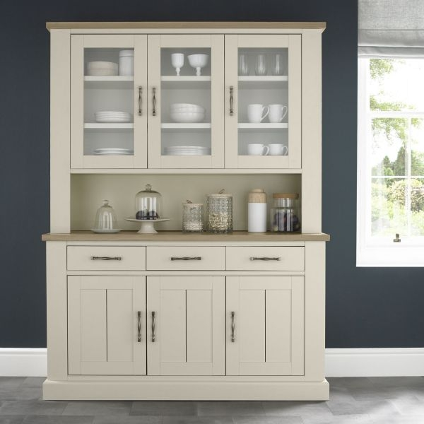 Bentley Designs Chartreuse Aged Oak and Antique White Glazed Dresser