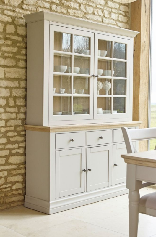 Corndell Annecy Oak Top Large Sideboard with Dresser Top