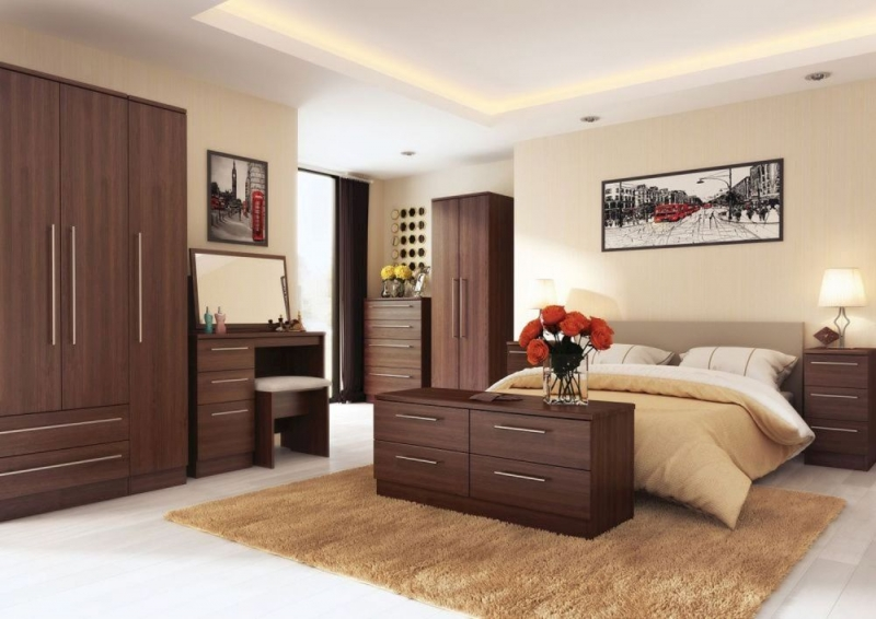 Sherwood Noche Walnut Wardrobe - Tall 2ft 6in with Double Hanging